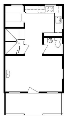 Tumbleweed Tiny House Company: B-53 floor plan
